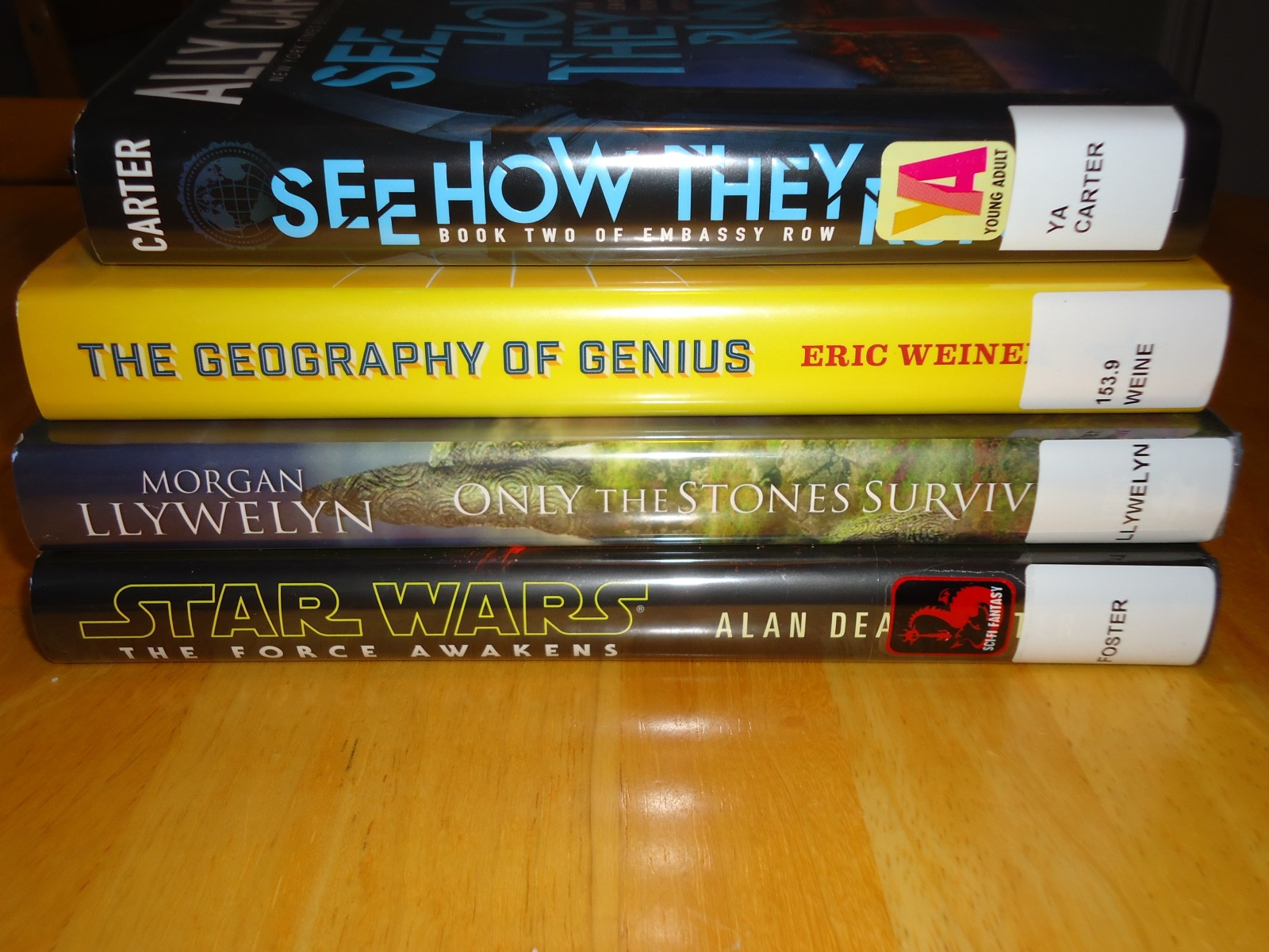 Library Haul and Reading List 01/22/16